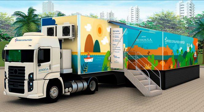 Caminhão itinerante da Serasa vai percorrer o Brasil para levar informações e serviços gratuitos à população