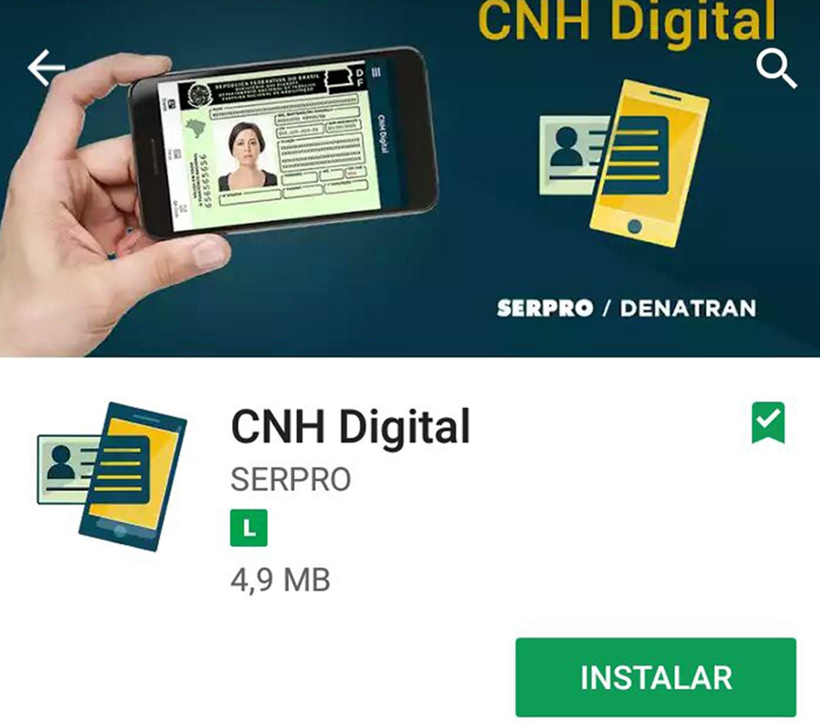 Goiás receberá o projeto piloto da CNH digital