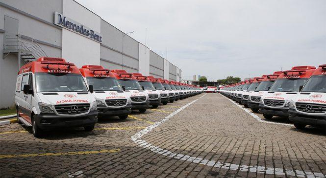 Mercedes-Benz entrega mais de 200 ambulâncias Sprinter para o SAMU