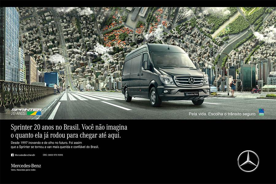 Sprinter comemora 20 anos de sucesso no Brasil com lançamento de campanha