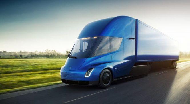 Caminhão elétrico Tesla Semi é oficialmente apresentado