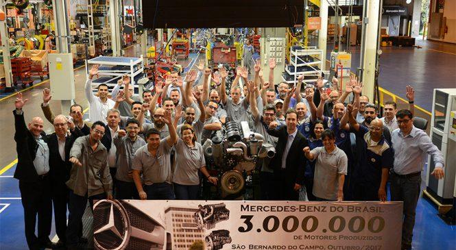 Mercedes-Benz alcança o marco de 3 milhões de motores produzidos no Brasil