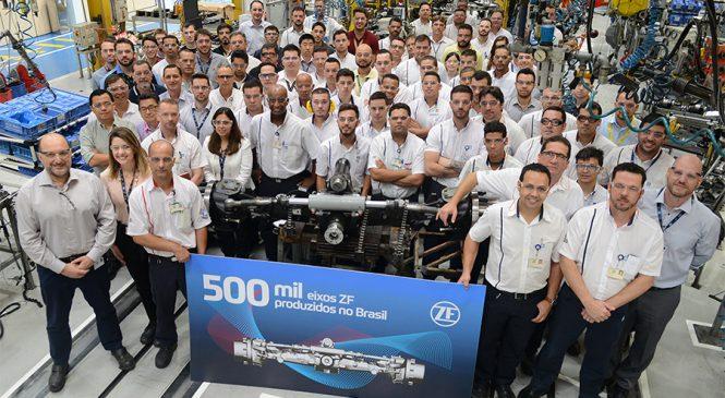 ZF atinge a marca de 500 mil eixos produzidos no Brasil