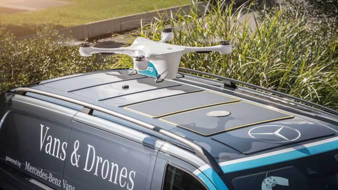Mercedes-Benz inicia projeto com drones de entrega no e-commerce em Zurique
