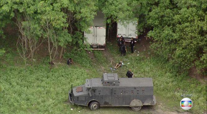 Roubo de carga acontece a cerca de um quilômetro de barreira da Força Nacional no Rio