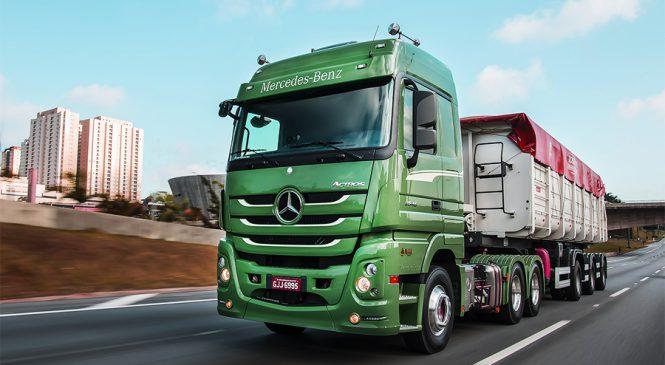 Mercedes-Benz aumenta em 23% as vendas de extrapesados no mercado brasileiro