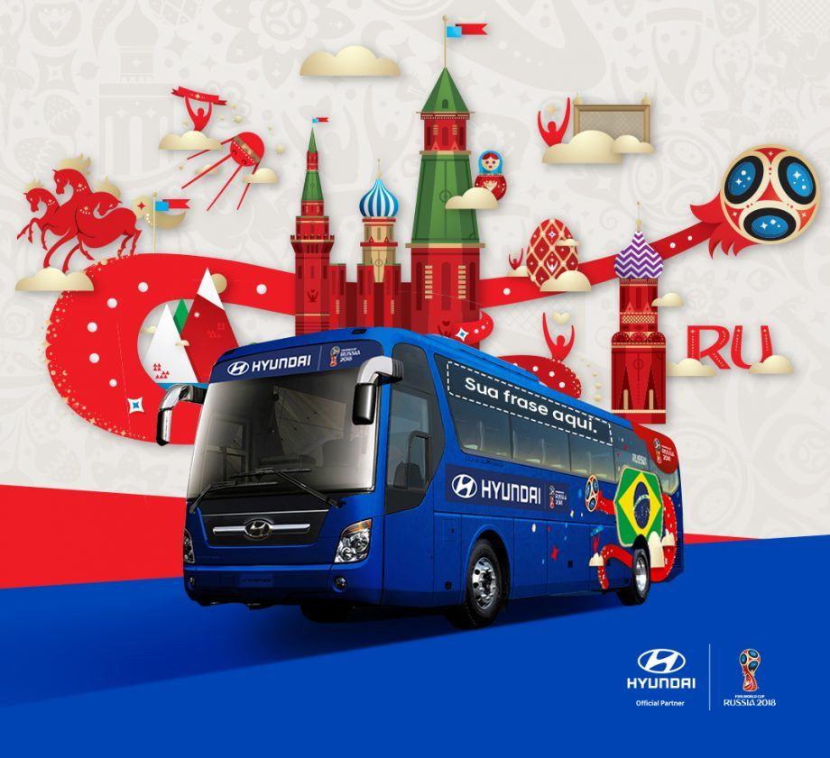 Hyundai promove concurso que vai escolher frase para ônibus do Brasil na Copa do Mundo