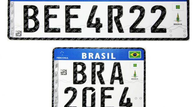 Com dois anos de atraso Brasil ainda não implantou modelo de Placas Mercosul