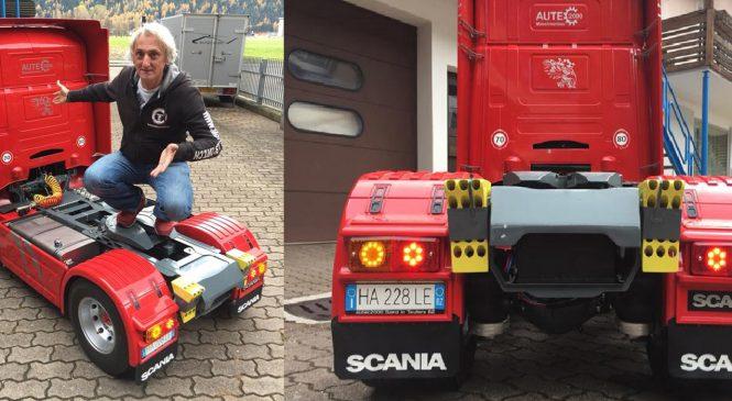 Suíço constrói 'miniatura' de caminhão com controle remoto