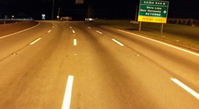 Programação de manutenção do pavimento da BR-040 em Minas Gerais