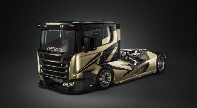 Empresa sueca cria caminhão Scania mais rápido que carro esportivo alemão