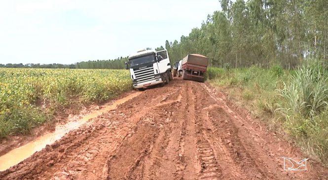Condições de estradas no sul do Maranhão pioram com chegada de chuvas