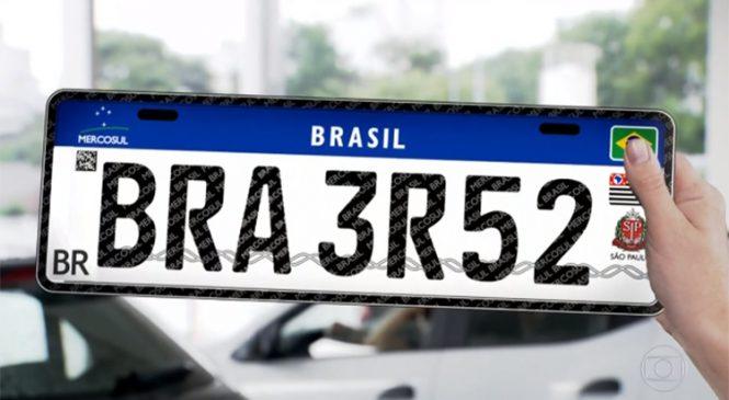 Placa padrão Mercosul deve custar mais no Brasil que em outros países