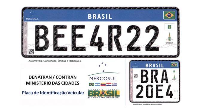 Placas de veículos no padrão do Mercosul, que entrariam em vigor em setembro, são suspensas por 60 dias