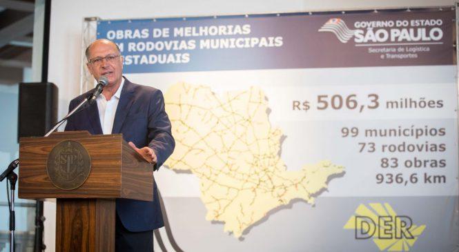 Governador Geraldo Alckmin anuncia R$ 506 milhões para modernizar 33 rodovias