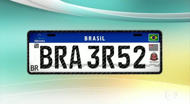 Placas do Mercosul serão obrigatórias apenas para veículos novos e transferidos