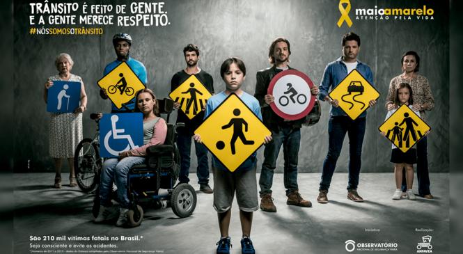 Movimento Maio Amarelo apresenta campanha oficial para 2018