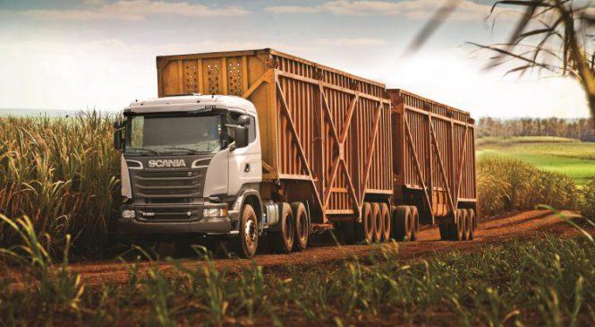 Scania apresenta Super Rodotrem de 11 eixos na Agrishow