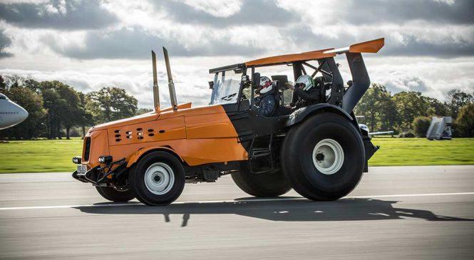 Trator com mais de 500 cv bate recorde de velocidade