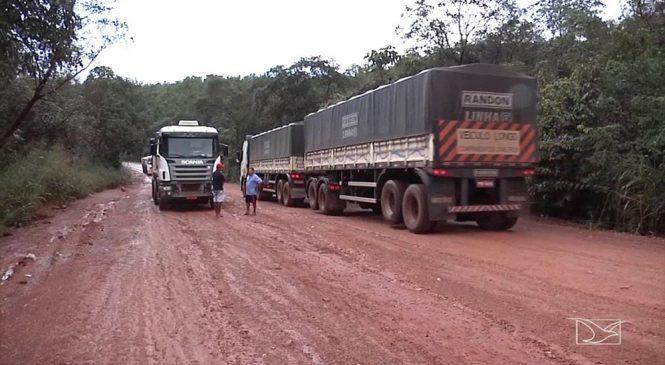 Tomada por buracos, MA-006 causa prejuízo a caminhoneiros no Maranhão