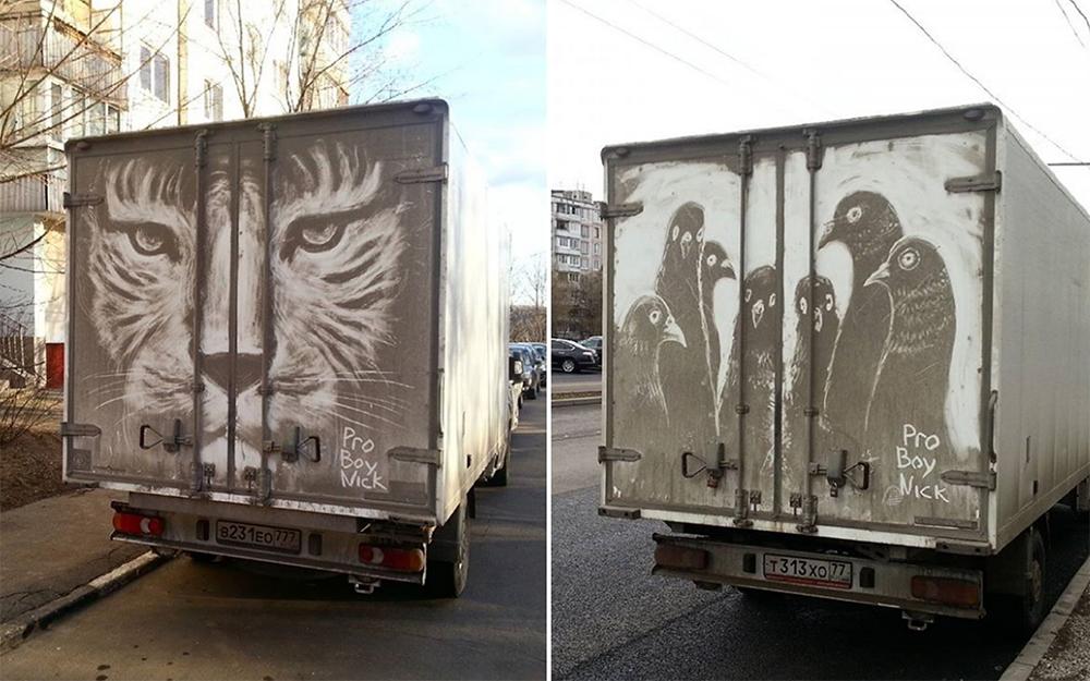 O russo que é mestre na personalização de veículos sujos