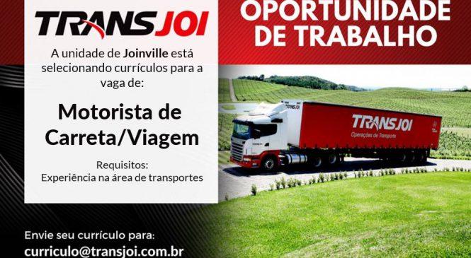 Transjoi de Joinville contrata motorista de viagem, categoria E