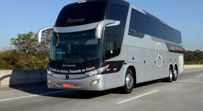 Águia Branca é o primeiro cliente a comprar ônibus  com Piloto Automático Adaptativo