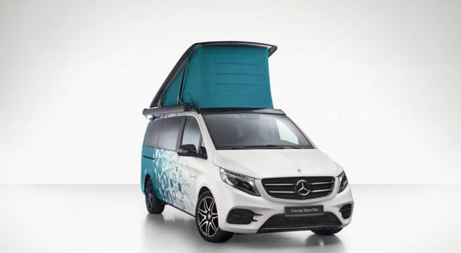 Mercedes-Benz Concept Marco Polo adianta a primeira van para camping movida a célula de hidrogênio