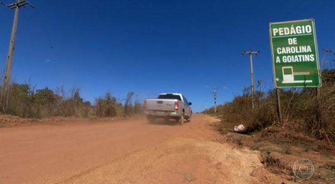 Caminhoneiros denunciam cobrança irregular de pedágio em estrada no sul do Maranhão
