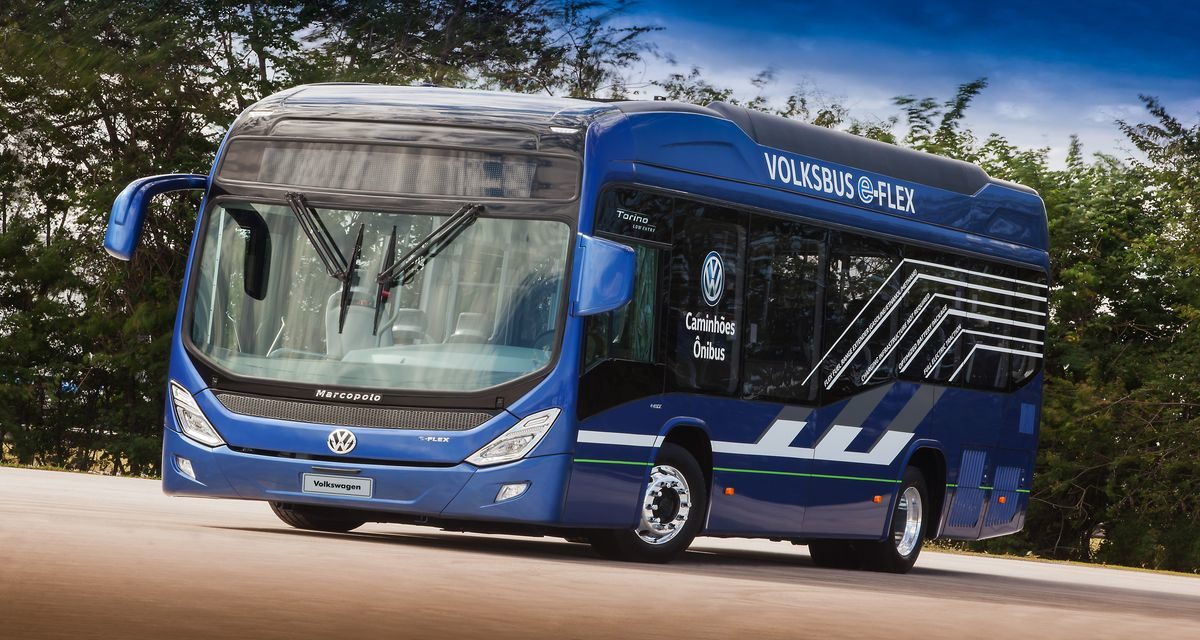 VW desenvolve o e-Flex, ônibus híbrido com motor de automóvel