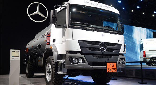 Mercedes-Benz exporta 20 caminhões Atego  fora de estrada para as Filipinas