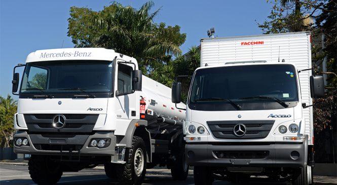Grupo Daimler mostra caminhões  brasileiros no IAA 2018