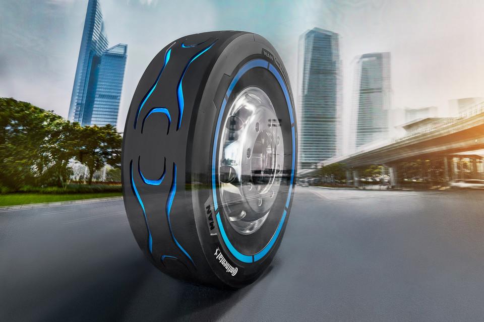A Continental e a MAN apresentam pneus especificamente para caminhões elétricos na IAA 2018