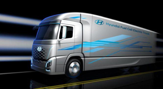 Hyundai lançará um caminhão movido a hidrogênio em 2019