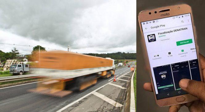 Denatran lança aplicativo de fiscalização de trânsito.