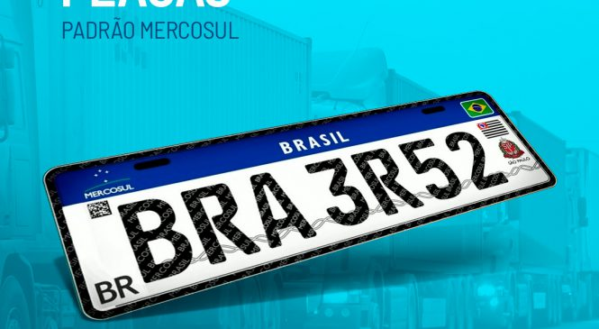 Contran suspende emissão de placas Mercosul