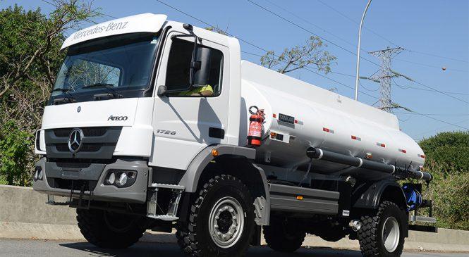Mercedes-Benz embarca 40 caminhões Atego para Abu Dhabi