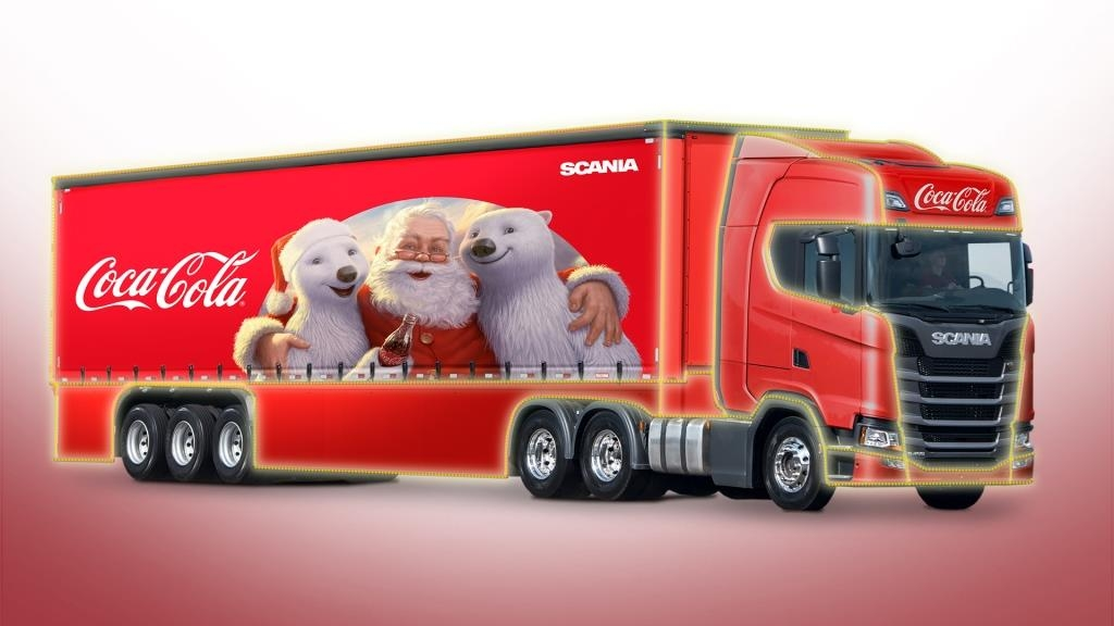 Coca-Cola FEMSA Brasil faz parceria com a Scania para Caravana de Natal.