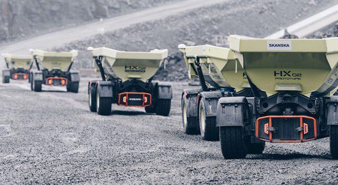 Site Elétrico da Volvo CE e da Skanska reduz as emissões de carbono em 98%