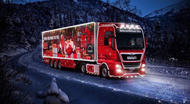 Caminhão da MAN no natal alemão.