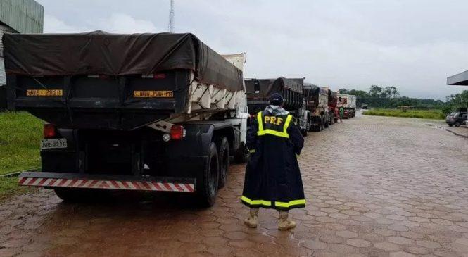 Caminhoneiro é multado em R$ 11 mil por transportar excesso de carga nas rodovias federais do Pará