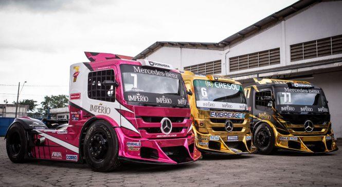 Caminhões Actros estreiam com sua força e alta performance na Copa Truck 2019