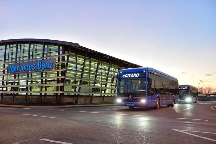 Daimler avança com a produção do ônibus elétrico eCitaro da Mercedes-Benz