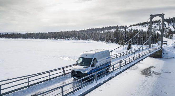 Sprinter elétrica encerra com êxito os rigorosos testes de inverno no Círculo Polar Ártico