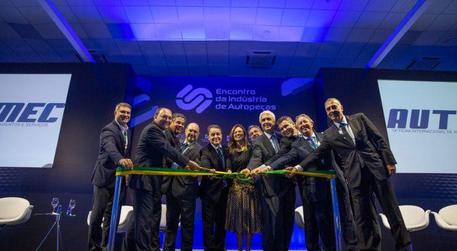 Cerimônia abertura da Automec de 2019 é realizada durante o 1º Encontro da Indústria de Autopeças