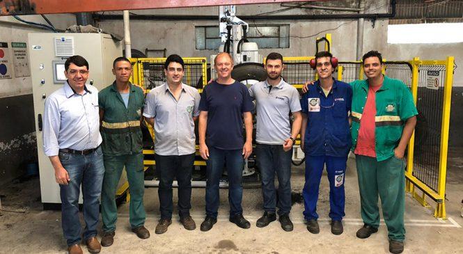 Reformadora mineira adquire máquina de raspagem de pneus produzida pela Vipal Máquinas