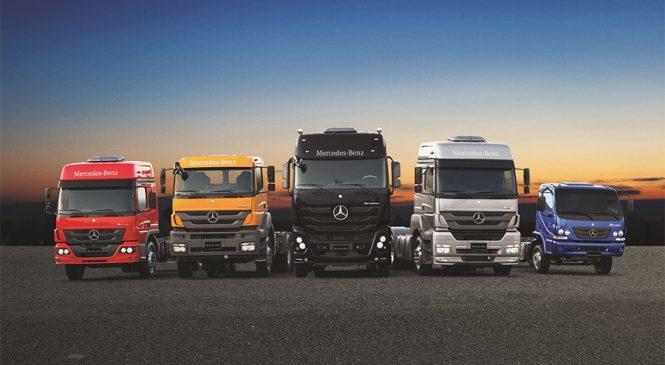 Mercedes-Benz lança CDC com taxa reduzida para toda sua linha de caminhões