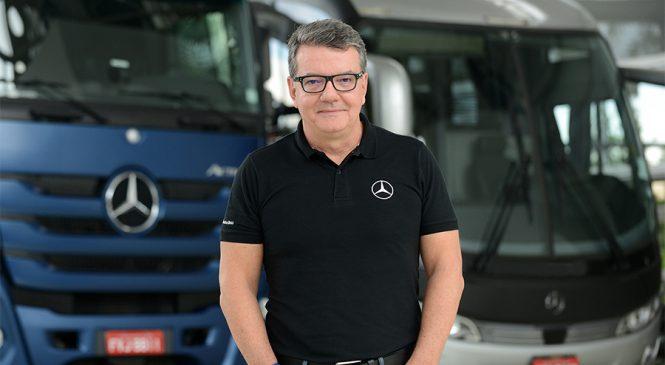 Mercedes-Benz destaca tecnologias de segurança ativa de caminhões e ônibus no mês do Maio Amarelo