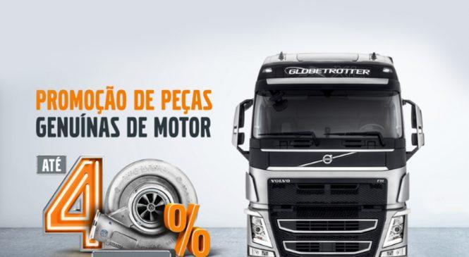 Com descontos de até 40%, Volvo lança promoção de peças de motor para caminhões e ônibus