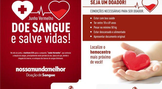 Rodovias paulistas realizam campanha pelo Junho Vermelho